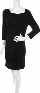 Czarna sukienka Laundry By Design z długim rękawem prosta