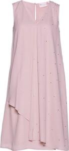 Sukienka bonprix bpc selection premium bez rękawów midi z szyfonu