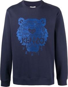 Niebieska bluza Kenzo z nadrukiem w młodzieżowym stylu