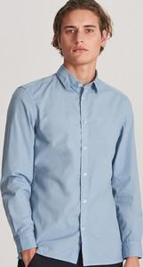 Niebieska koszula Reserved z bawełny z długim rękawem