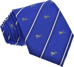 Niebieski krawat republic of ties z jedwabiu