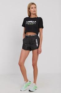 Czarny t-shirt Labellamafia z krótkim rękawem z okrągłym dekoltem