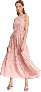 Różowa sukienka Top Secret maxi