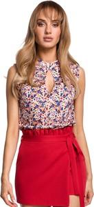 Bluzka Merg z okrągłym dekoltem w stylu casual