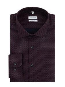 Czarna koszula Seidensticker Regular Fit z klasycznym kołnierzykiem z tkaniny