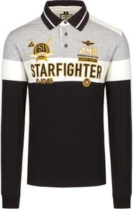 T-shirt Aeronautica Militare w młodzieżowym stylu z krótkim rękawem