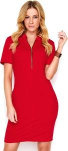 2f1a2e0851 Sukienka Makadamia z krótkim rękawem midi z dekoltem w kształcie litery v