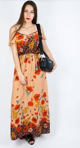 Pomarańczowa sukienka Olika maxi