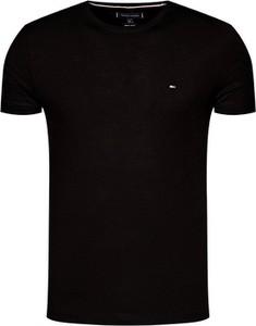 Czarny t-shirt Tommy Hilfiger z bawełny w stylu casual