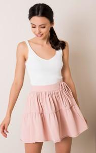 Różowa spódnica Factory Price z dresówki