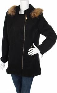 Czarny płaszcz ITALY MODA z plaru w stylu casual