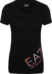 T-shirt EA7 Emporio Armani z okrągłym dekoltem