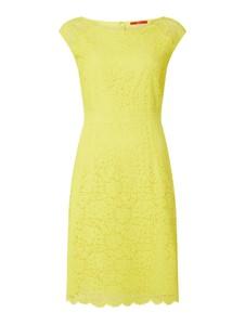 Żółta sukienka S.Oliver Red Label z bawełny midi