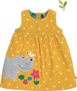 Sukienka dziewczęca Frugi w groszki