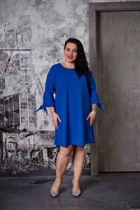 Sukienka tono.sklep.pl dla puszystych midi z okrągłym dekoltem