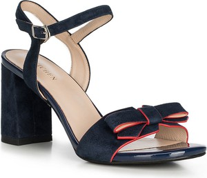 Sandały Wittchen ze skóry na obcasie w stylu glamour