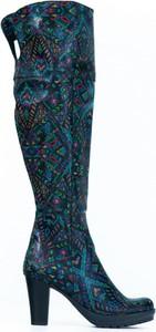 Kozaki Zapato ze skóry za kolano na zamek
