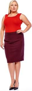 Czerwona spódnica Fokus z tkaniny