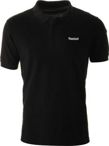 Czarna koszulka polo Reebok z bawełny