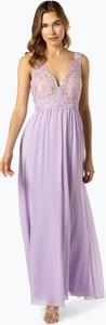 Fioletowa sukienka SUDDENLY Princess z dekoltem w kształcie litery v maxi z szyfonu
