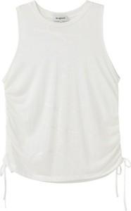 Bluzka Desigual w stylu casual z okrągłym dekoltem