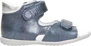 Niebieskie buty dziecięce letnie EMEL ze skóry