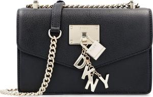 Czarna torebka DKNY mała na ramię