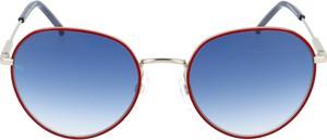 Czerwone okulary damskie Tommy Hilfiger