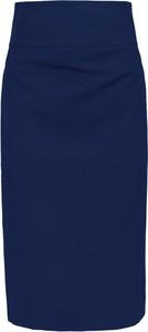 Niebieska spódnica Style z tkaniny