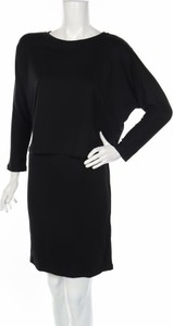 Sukienka edc by Esprit z okrągłym dekoltem z długim rękawem prosta