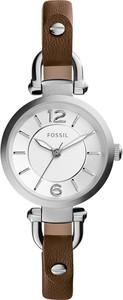 Zegarek FOSSIL - Georgia ES3861 Dark Brown/Silver/Steel