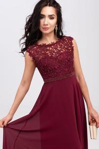 Sukienka Butik Ecru z okrągłym dekoltem