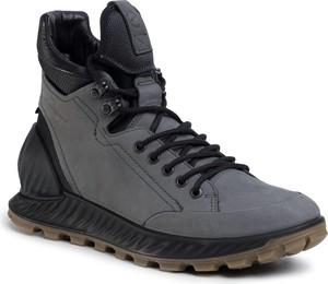 Buty zimowe Ecco sznurowane z nubuku