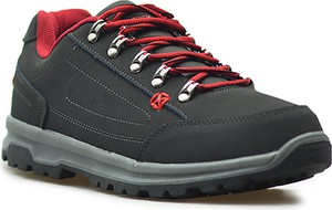 Czarne buty zimowe MT TREK ze skóry sznurowane