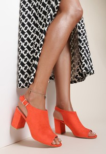 Czerwone sandały Renee z klamrami