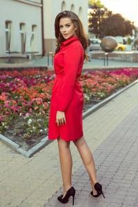 Czerwona sukienka NUMOCO mini koszulowa