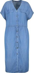 Sukienka Samoon mini w stylu casual z krótkim rękawem