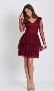 Sukienka Marcelini z długim rękawem z tiulu