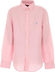 Różowa koszula dziecięca Ralph Lauren dla chłopców