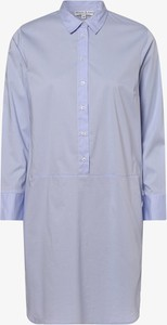 Niebieska sukienka Marie Lund z długim rękawem koszulowa