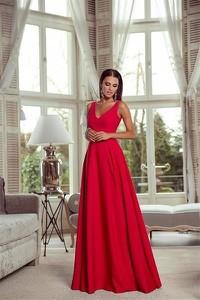 Różowa sukienka Emo Sukienki z dekoltem w kształcie litery v maxi