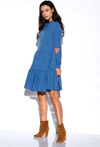 Niebieska sukienka Lemoniade mini z długim rękawem w stylu casual