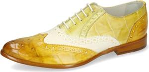Żółte półbuty Melvin & Hamilton w stylu casual ze skóry z płaską podeszwą