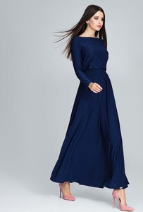 Granatowa sukienka Figl rozkloszowana