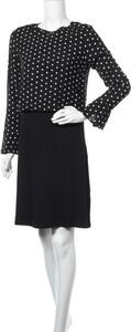 Czarna sukienka Yerse z długim rękawem mini