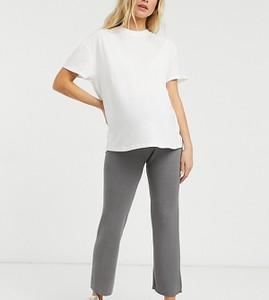 New Look Maternity – Ciemnoszare spodnie z szerokimi nogawkami – część zestawu-Szary