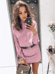 Sukienka magmac.pl z długim rękawem mini w stylu casual