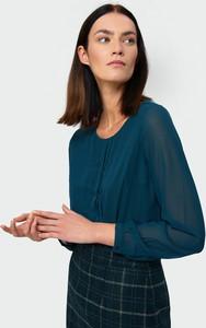 Bluzka Greenpoint w stylu casual z długim rękawem z okrągłym dekoltem
