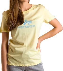 Bluzka Alpha Industries z okrągłym dekoltem z krótkim rękawem z bawełny
