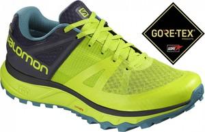 Zielone buty sportowe Salomon z goretexu
